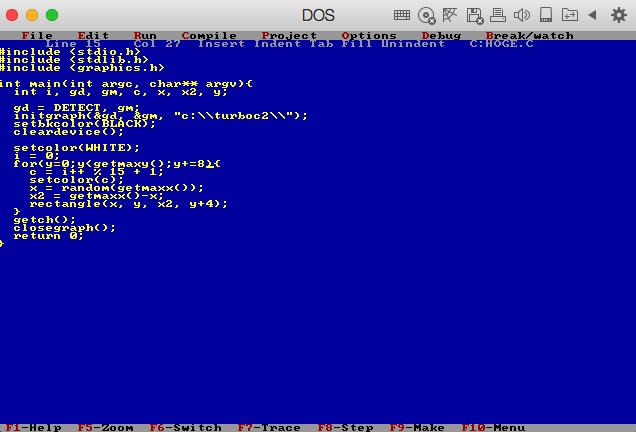 Turbo C + Borland Graphics Lib